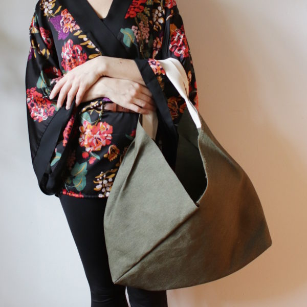 origamibag basic L linen khaki