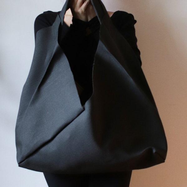origamibag basic XL linen black