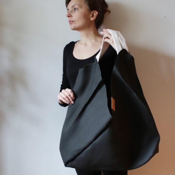 origamibag basic L linen black