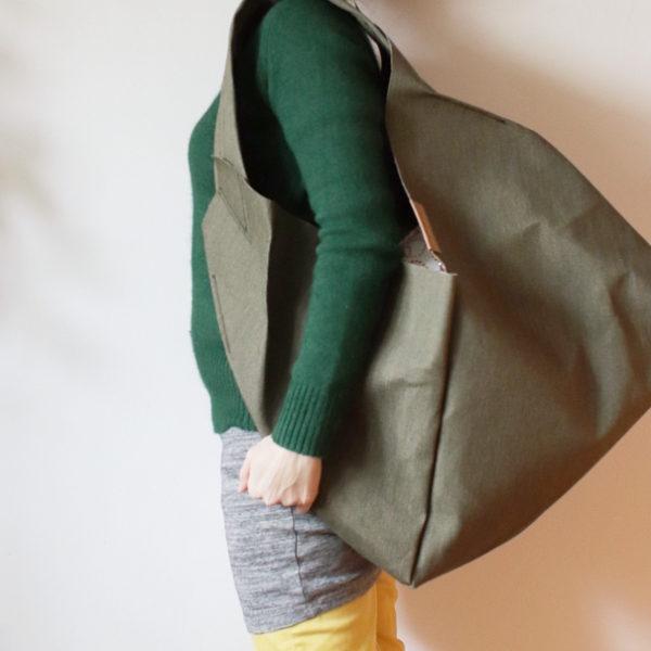 origamibag basic XL linen khaki