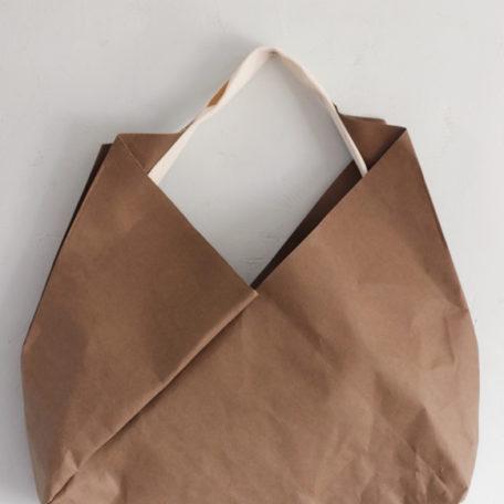 torba z papieru do szycia w odcieniu białej kawy