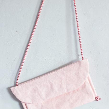 kopertówka różowa z papieru do szycia