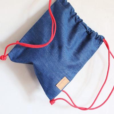 worek jeans dla dziecka z linką żeglarską