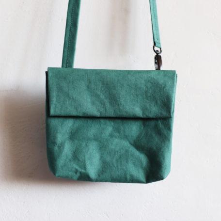 torebka butelkowa zieleń z odpinanym paskiem