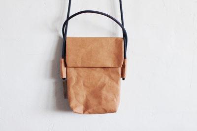 mała torebka z papieru do szycia w kolorze białej kawy
