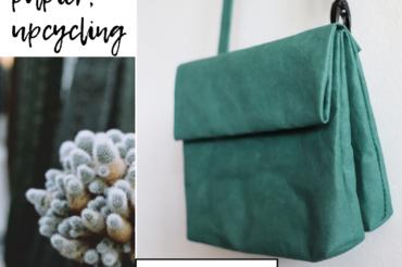 Kolekcja torebek podwójnych – mała torebka z papieru w ciekawej odsłonie