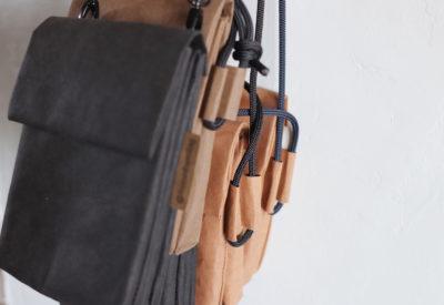 mała torebka damska - kolekcja terebek podójnych ze specjalnej papierowej tkaniny wyglądającej jak papier i skóra