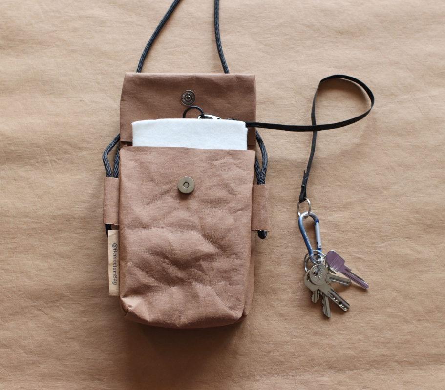 mała torebka podwójna z papieru