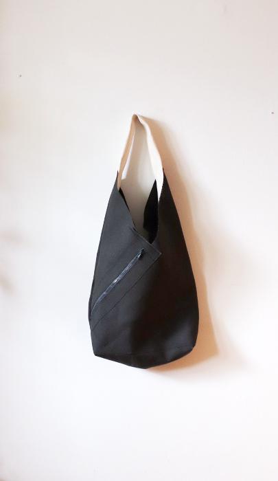 torba lniana Secretly z kolekcji Origami - czarny len