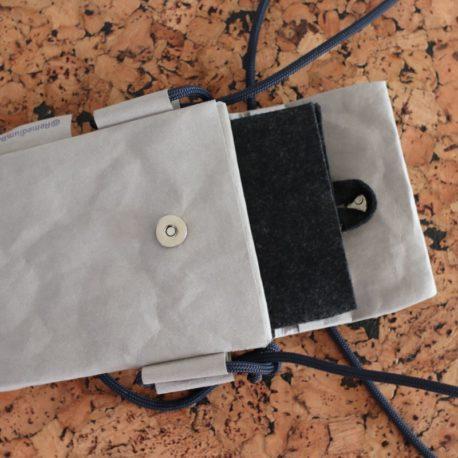 torebka szara lina granat 6