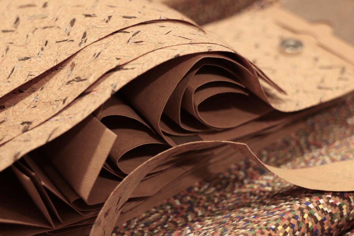 naturalny tkanina korkowa - wegańska skóra - materiał skrojony na mini torebki